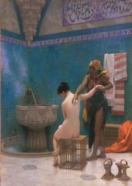 Gerome, Jean Leon: The Bath. Fine Art Print/Poster. Sizes: A4/A3/A2/A1 (002842)